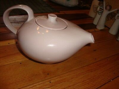Russel Wright Iroquois Casual China Retro-Style Teapot Light Coral/pink Nice Usa
