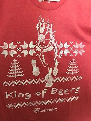Classic Budweiser King Of Beers Holiday Party T Shirt 2XL DILLY DILLY