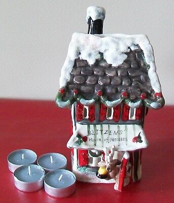 BLITZEN'S HOUSE OF PANCAKES CANDLE HOUSE by Blue Sky Clayworks