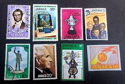 Jamaica - 8 old used stamps / 01