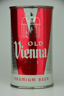 Old Vienna Premium Beer flat-top can, Old Vienna Brewing, Chicago, IL  *SHINY*
