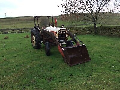 David Brown 990 loader tractor farm horse sheep cattle hay straw silage livery