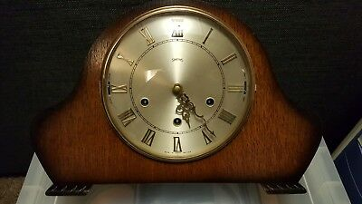 Smiths 8 Day Dual Chime Westminster Whittington Mantle Mantel Clock Working