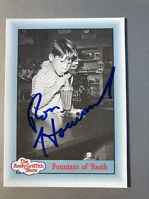 Ron Howard Opie AUTHENTIC HAND SIGNED Sports Card The Andy Griffith Show