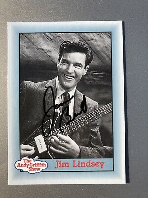 James Best Jim Lindsey AUTHENTIC HAND SIGNED Sports Card The Andy Griffith Show