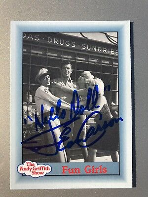 Jean Carson Fun Girls AUTHENTIC HAND SIGNED Sports Card The Andy Griffith Show