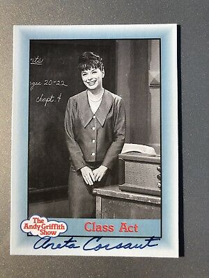Aneta Corsaut Helen Crump AUTHENTIC SIGNED Sports Card The Andy Griffith Show