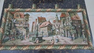 "Antique 19c Aubusson French Tapestry excellent condition  size45""x22cm114x56"