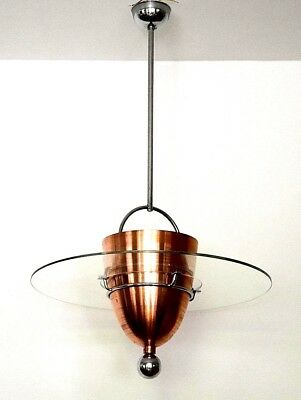 Rare Huge Original Bauhaus Chandelier Metropolis 30S Ceiling Lamp Art Deco