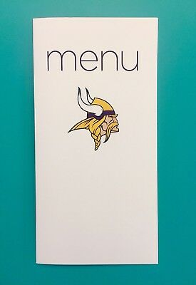 Virgin Atlantic Charter Menu— Minnesota Vikings