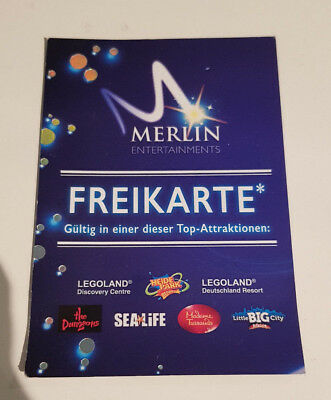 1x Merlin Freikarte - Heidepark Legoland SeaLife Madame Tussauds Little Big City