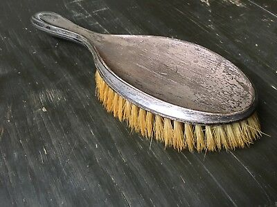 Antique Solid Sterling Silver Backed Ladies Hairbrush Brush Vintage 1924