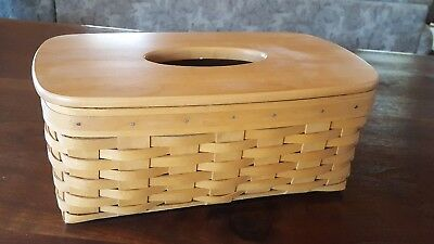Longaburger 2001 Long Tissue Basket with Lid