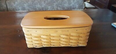 Longaburger 2002 Long Tissue Basket with Lid