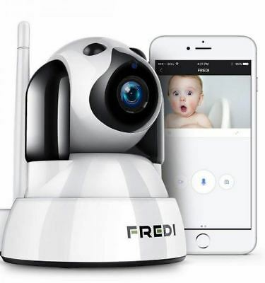 FREDI Baby Monitor Wireless 720P Security Camera, WiFi Home Surveillance IP...