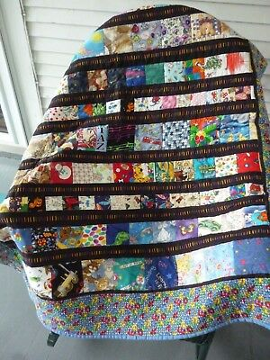 Handmade Patchwork Baby Quilt Crib Quilt  Multi Color Patches