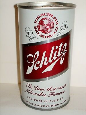 """SCHLITZ """"TEST CAN""""  S/S Beer Can A196"""