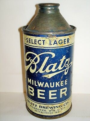 "BLATZ MILWAUKEE SELECT LAGER ""IRTP"" BEER CONE TOP Beer Can A162"