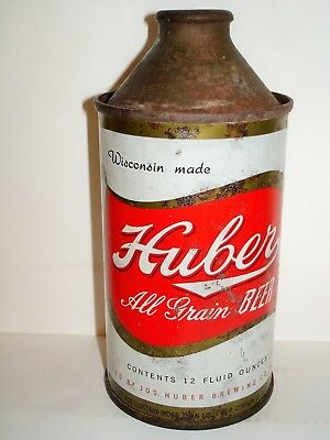 "HUBER ""ALL GRAIN BEER"" CONE TOP Beer Can A137"