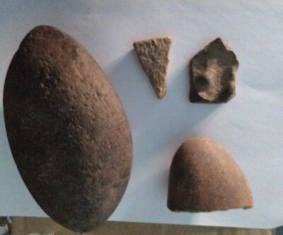 Lot of 4 pieces neolithic times.  + 2KG.