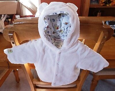 Baby/Infant White Whinnie The Pooh Fury Coat. Size 6-9 Months
