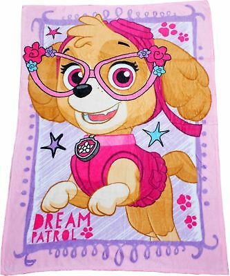 Paw Patrol Girls Skye Coral Soft Fleece Blanket