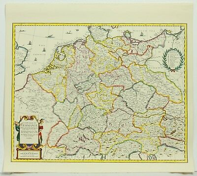 A New Map of Germanie Color Reproduction Map