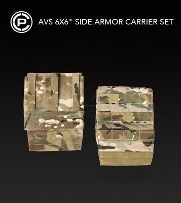 "Crye Precision AVS 6"" x 6"" Side Armor Plate Pouch Carrier Set of 2  Multicam 6x6"