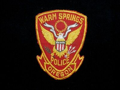 Scarce Shield-shaped Warm Springs Tribal Police Patch from Oregon
