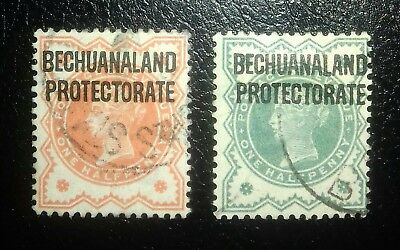British Bechuanaland Protectorate x 2 1/2d issues
