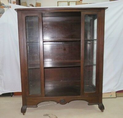 Vintage Bookcase or Display Cabinet Adjustable Shelves ~ West End Furniture Co.