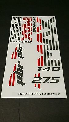 """STAR SAM® FORK STICKERS Lefty Cannondale SuperMax 160 PBR ADHESIVES 29 /"""""""