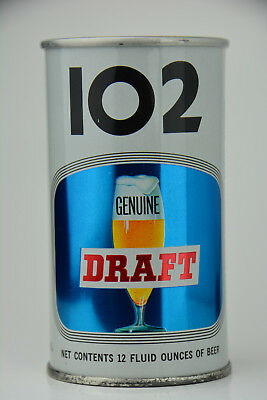 """102 Genuine Draft Beer pull-tab can, Maier Brewing Co., Los Angeles, CA  """"SHINY*"""