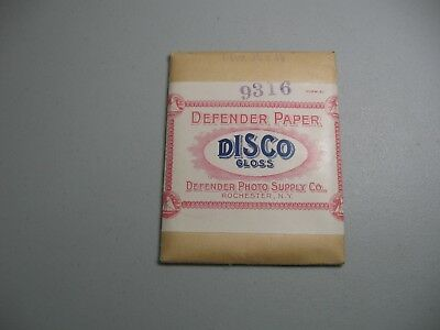"""Vintage;Disco Gloss Defender Paper with envelope;3 1/4 """"X4 1/4"""";year 1917;11 qty"""
