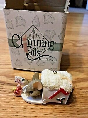 Charming Tails Christmas Ornament - Special Delivery - Rare