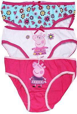 Peppa Pig Girls Three Pack Underwear Knickers Set