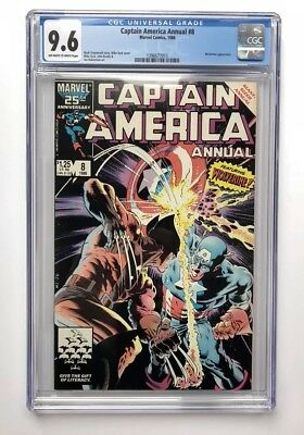Captain America Annual # 8 CGC 9.6 White (Marvel, 1986) Mike Zeck Classic Cover
