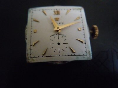 Vintage Very Rare Rolex ref 4600 series Square face Bubbleback Automatic watch