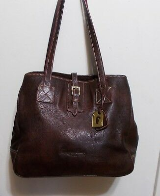 Dooney & Bourke Large Oversized Brown Pebbled Leather Tote
