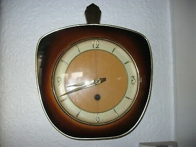 lovely Vintage German Wall Clock with Franz Hermle Movement
