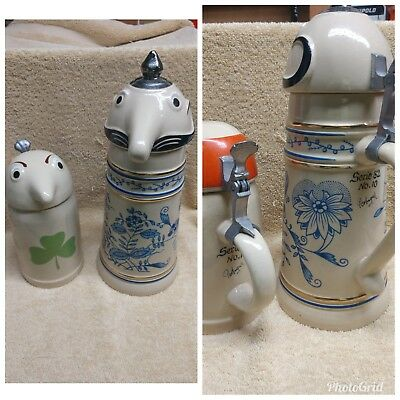 Schultz and Dooley special edition Utica club beer Steins MIE limited numbered