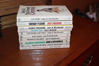 Lot of 10 John D. MacDonald vintage paperback novels (1950's, some 1st prints)