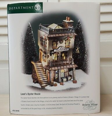 """Department 56 Dickens Village """"Leeds Oyster House"""" New In Box-Retired"""