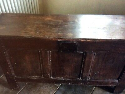 antique oak coffer Circa 1500