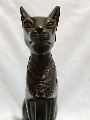 Ancient EGYPTIAN BASTET Antique Goddess Pharaoh Ubasti Cat Statue EGYPT Stone BC