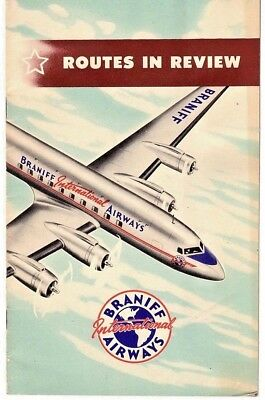 Rare BRANIFF INTERNATIONAL AIRWAY ROUTES IN REVIEW AIRLINE ROUTES NOVEMBER 1947