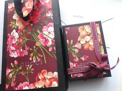 Gucci Blooms Box Ribbon Dustbag Gift Bag Cream Envelope Brand New Authentic