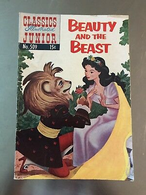 Vintage Comic Book Classics Junior Famous Authors Beauty And The Beast 1954