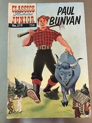 Vintage Comic Book Classics Junior Famous Authors Paul Bunyan 1955