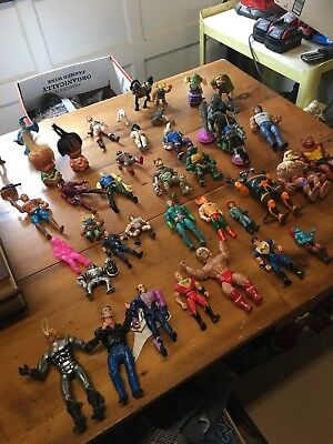 Massive Vintage Action Figure Lot. Old Toys. Collectible Action Figures